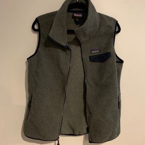 Charcoal and Navy Patagonia Synchilla Vest